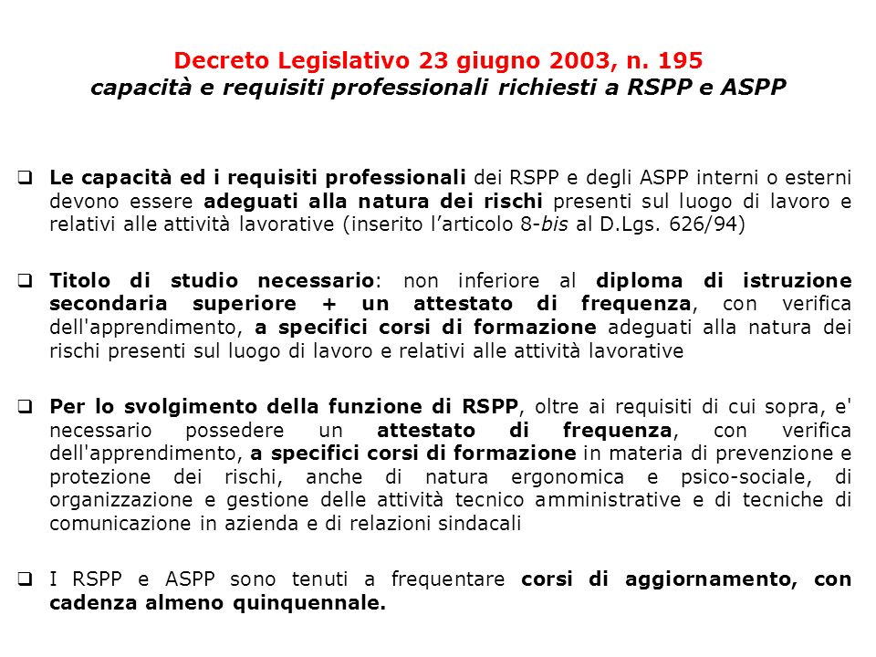 Decreto Legislativo 23 giugno 2003, n