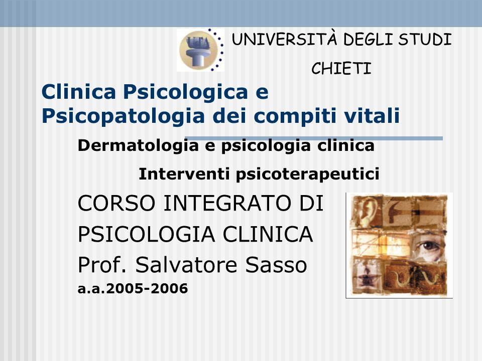 Clinica Psicologica e Psicopatologia dei compiti vitali