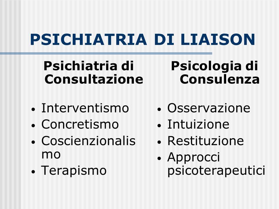PSICHIATRIA DI LIAISON