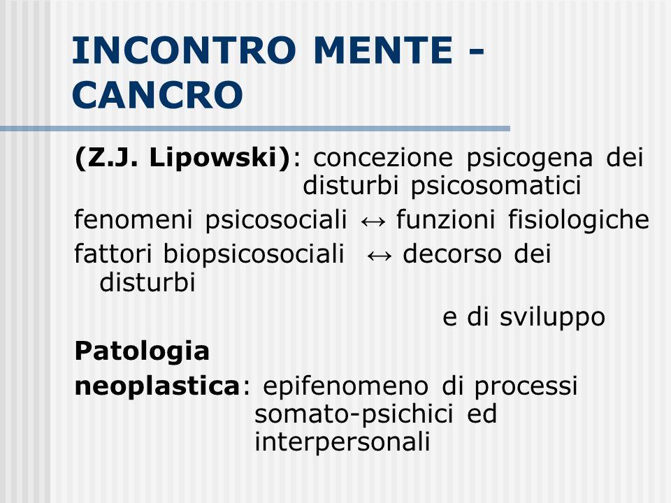 INCONTRO MENTE - CANCRO