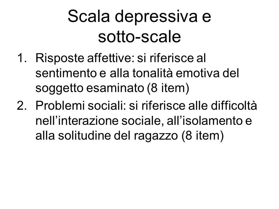 Scala depressiva e sotto-scale