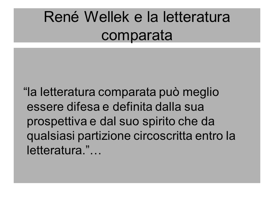 René Wellek e la letteratura comparata