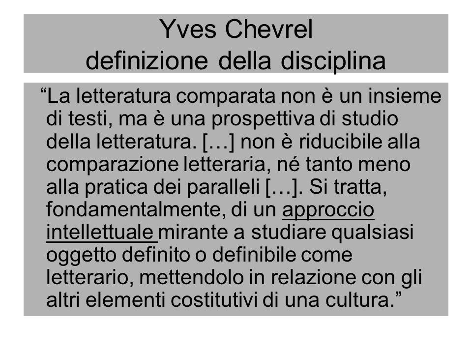 Yves Chevrel definizione della disciplina