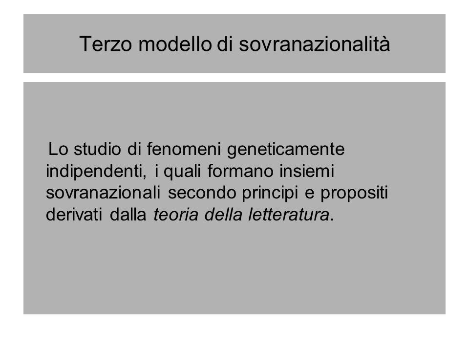 Terzo modello di sovranazionalità