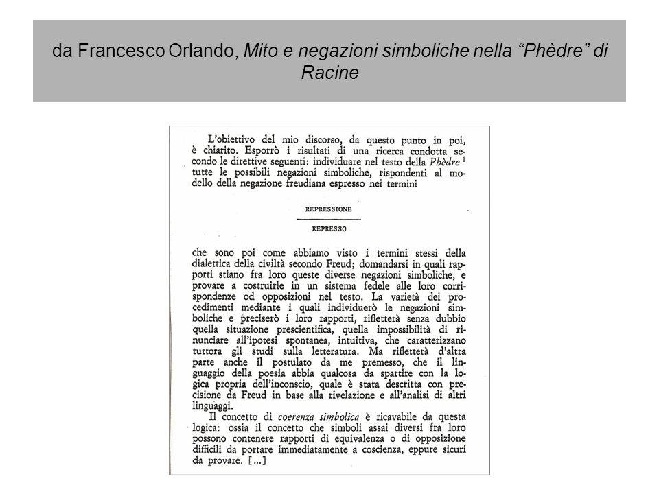 da Francesco Orlando, Mito e negazioni simboliche nella Phèdre di Racine
