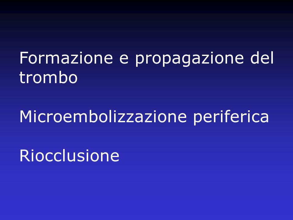 Formazione e propagazione del trombo