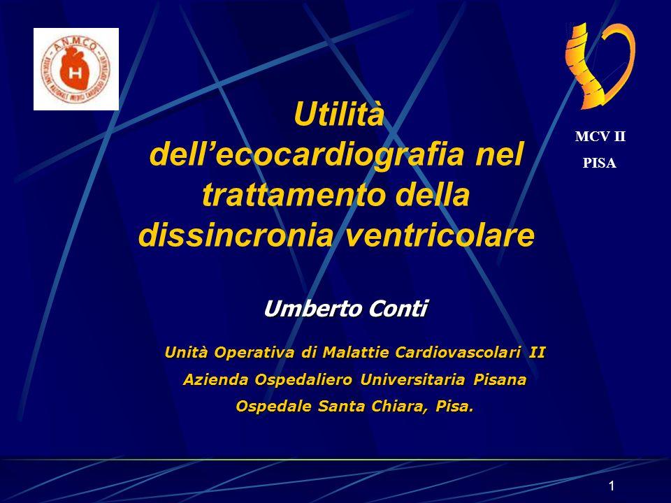 Utilità dell'ecocardiografia nel trattamento della dissincronia ventricolare
