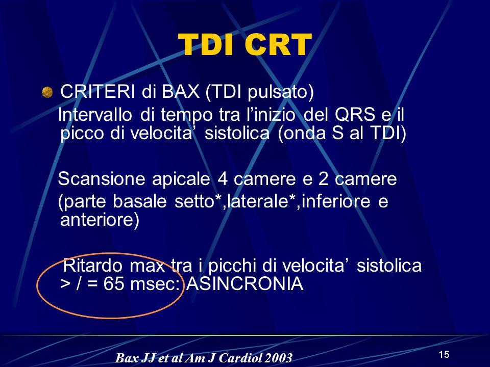 TDI CRT CRITERI di BAX (TDI pulsato)