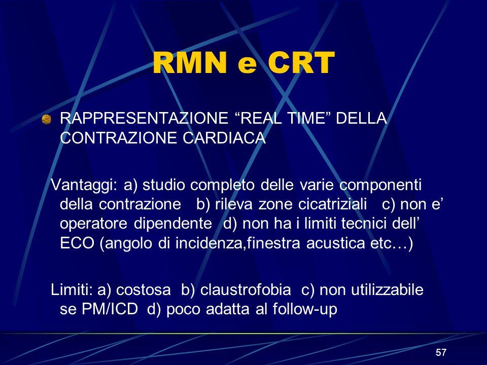 RMN e CRT RAPPRESENTAZIONE REAL TIME DELLA CONTRAZIONE CARDIACA