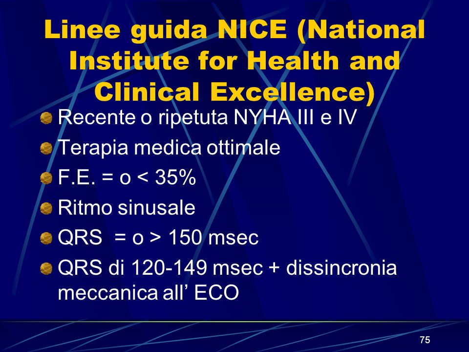 Linee guida NICE (National Institute for Health and Clinical Excellence)