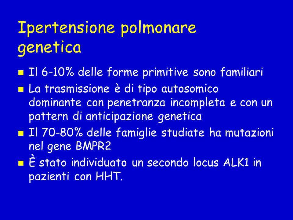 Ipertensione polmonare genetica