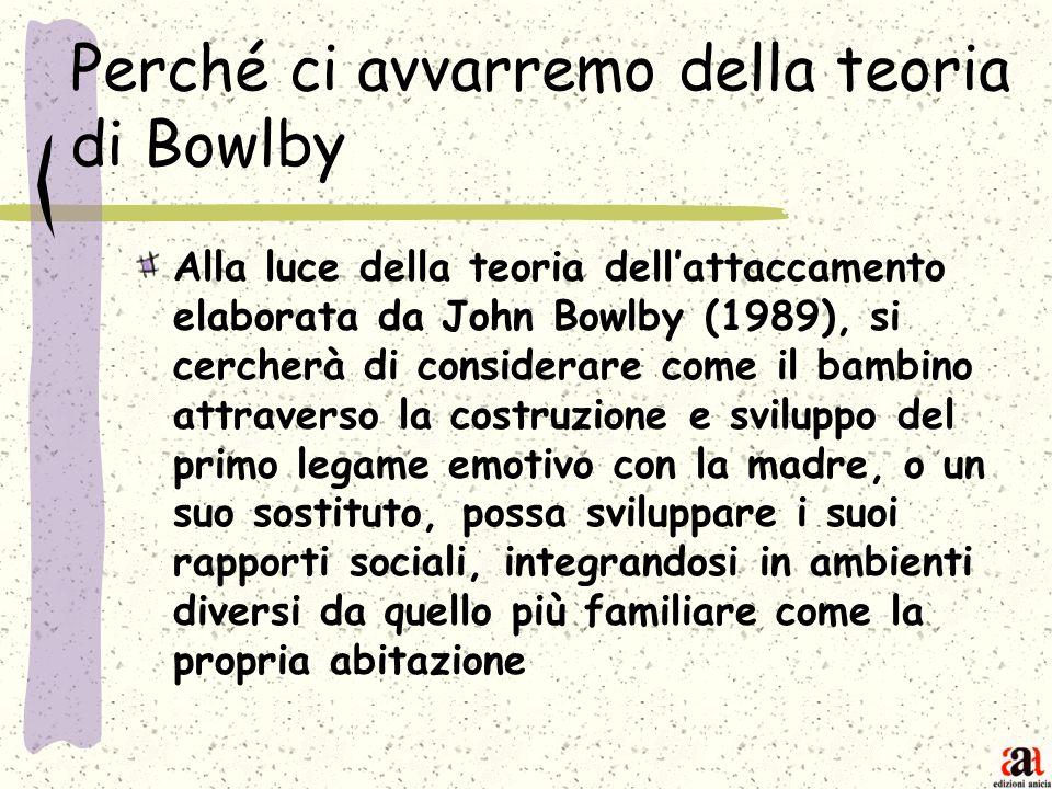 Perché ci avvarremo della teoria di Bowlby