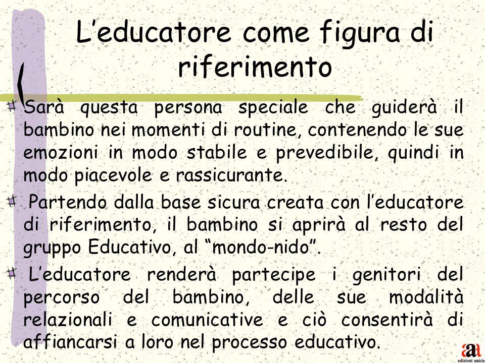 L'educatore come figura di riferimento