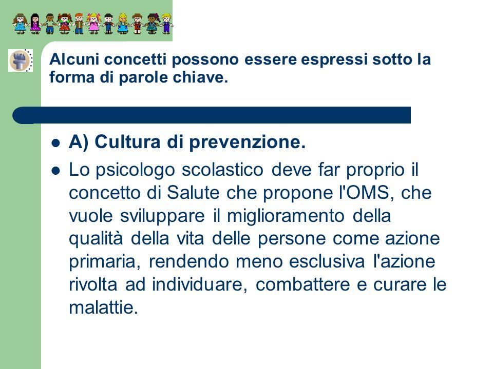A) Cultura di prevenzione.