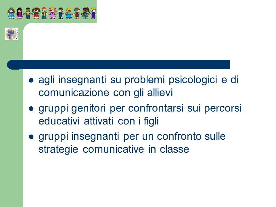 agli insegnanti su problemi psicologici e di comunicazione con gli allievi
