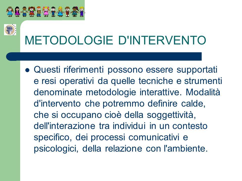 METODOLOGIE D INTERVENTO