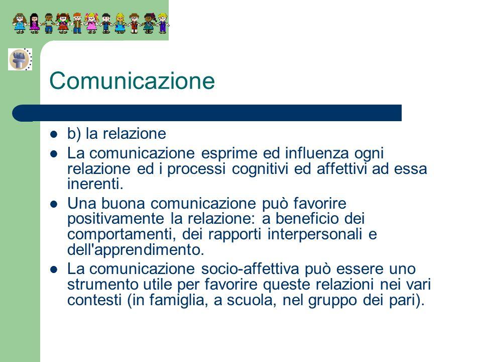 Comunicazione b) la relazione
