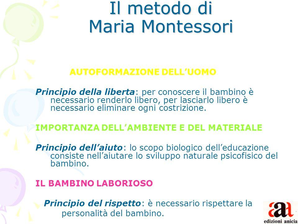 Il metodo di Maria Montessori