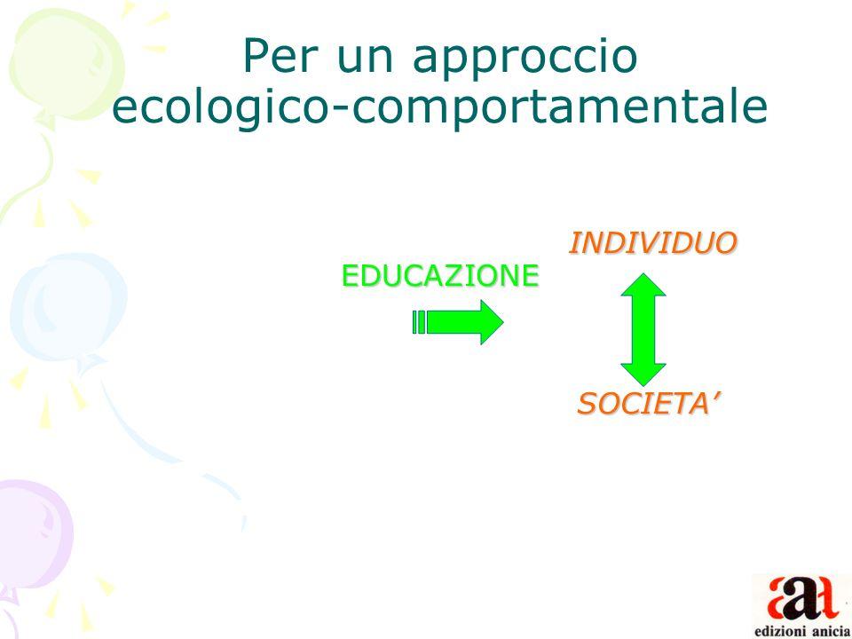 Per un approccio ecologico-comportamentale. INDIVIDUO EDUCAZIONE