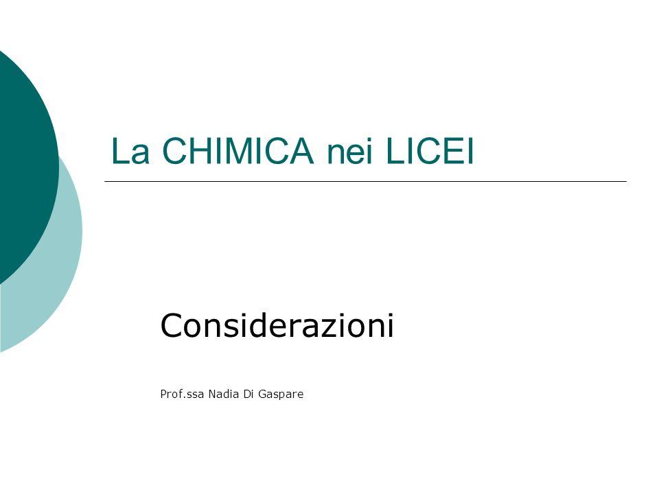 Considerazioni Prof.ssa Nadia Di Gaspare