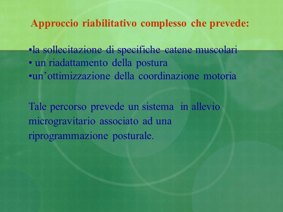 Approccio riabilitativo complesso che prevede: