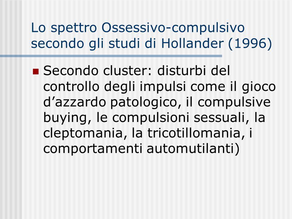 Lo spettro Ossessivo-compulsivo secondo gli studi di Hollander (1996)