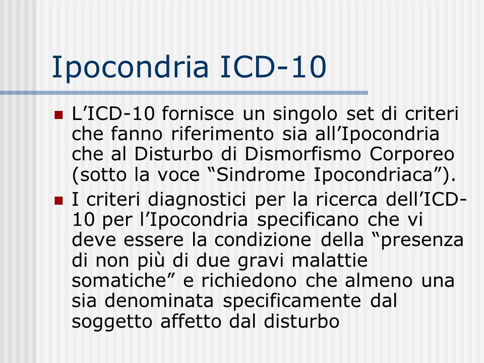 Ipocondria ICD-10