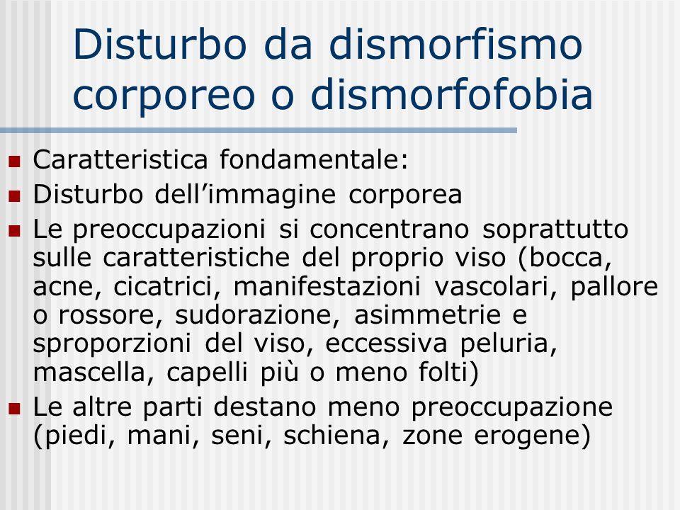 Disturbo da dismorfismo corporeo o dismorfofobia