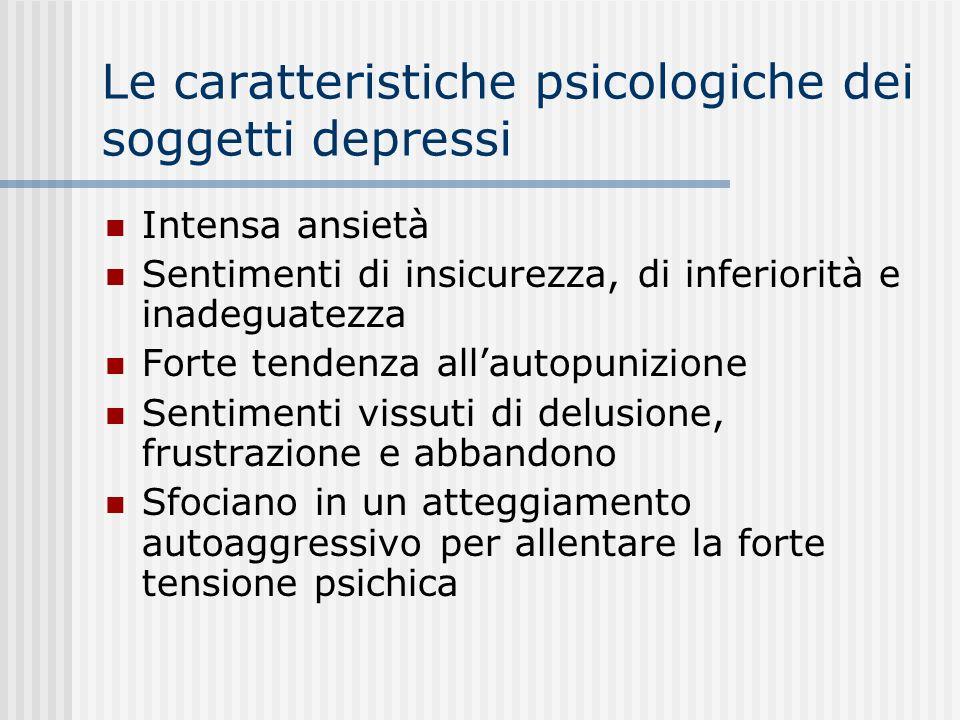 Le caratteristiche psicologiche dei soggetti depressi