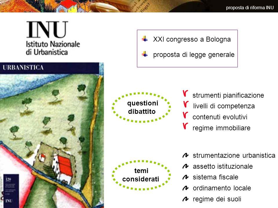 proposta di riforma INU