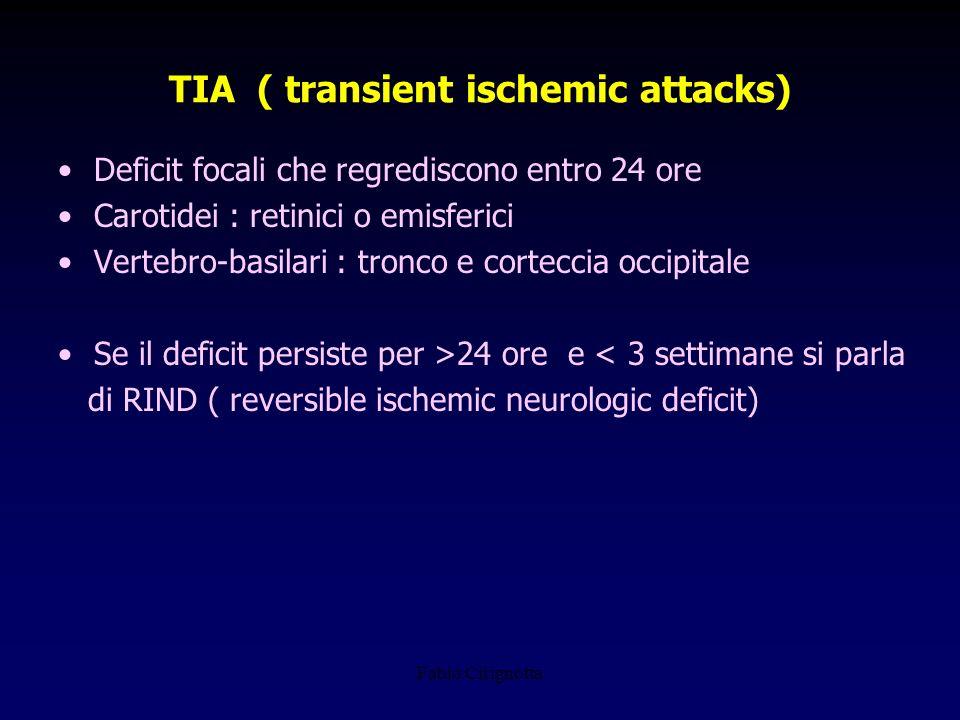 TIA ( transient ischemic attacks)