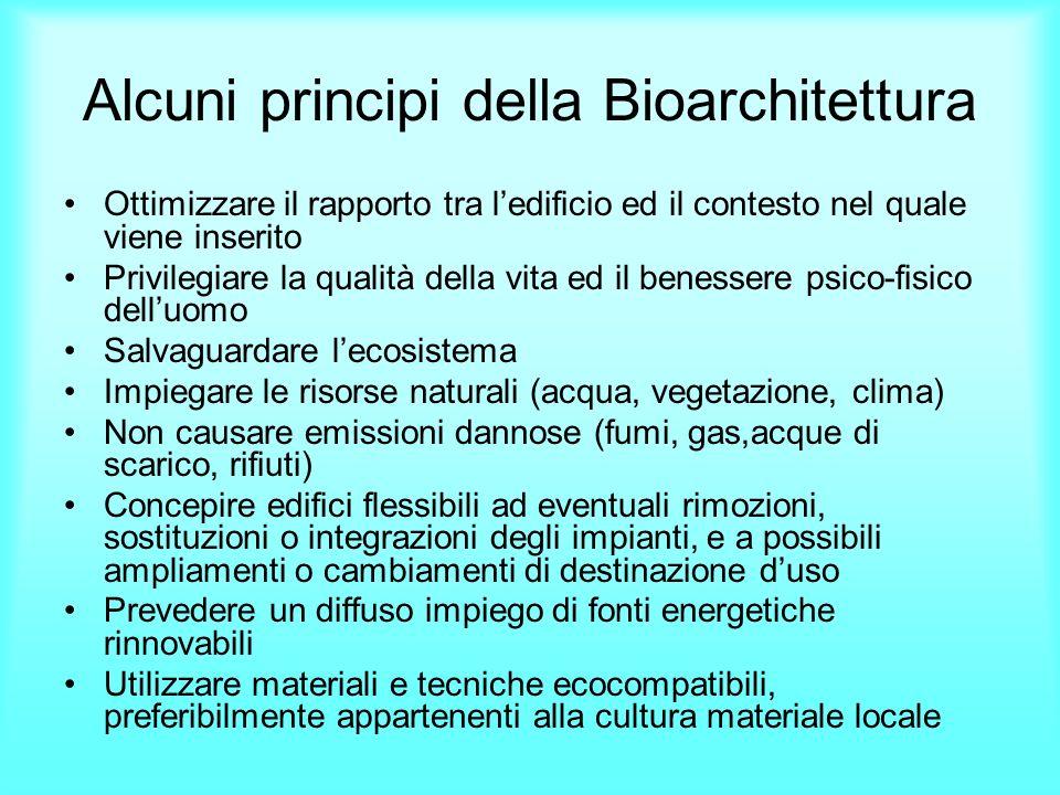 Alcuni principi della Bioarchitettura