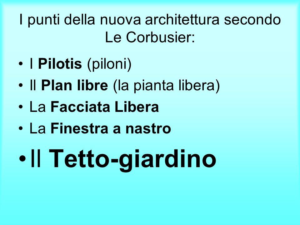 I punti della nuova architettura secondo Le Corbusier: