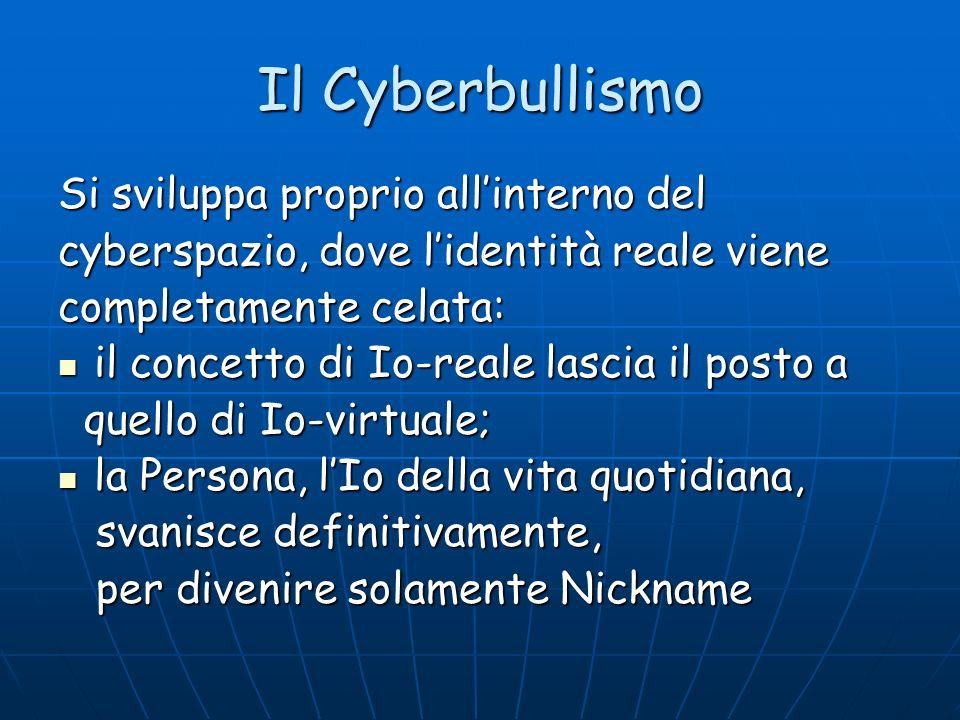 Il Cyberbullismo Si sviluppa proprio all'interno del