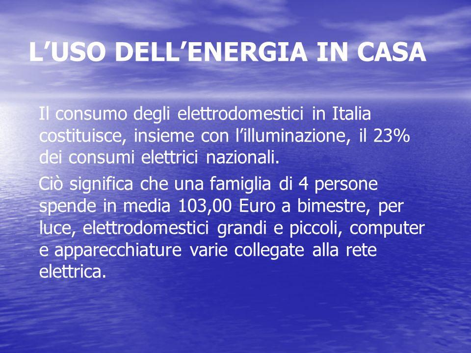 L'USO DELL'ENERGIA IN CASA