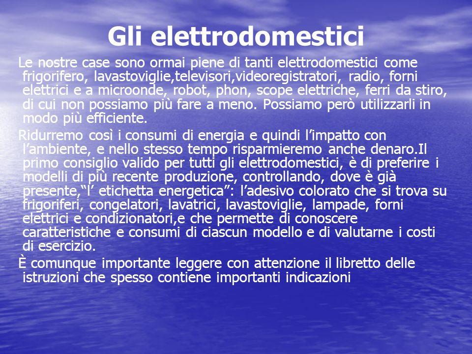 Gli elettrodomestici