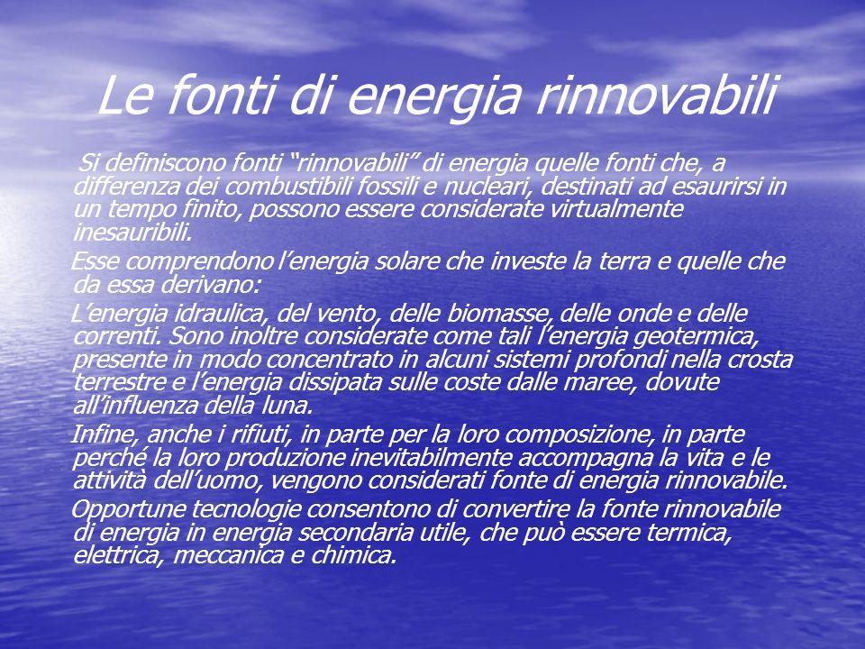 Le fonti di energia rinnovabili