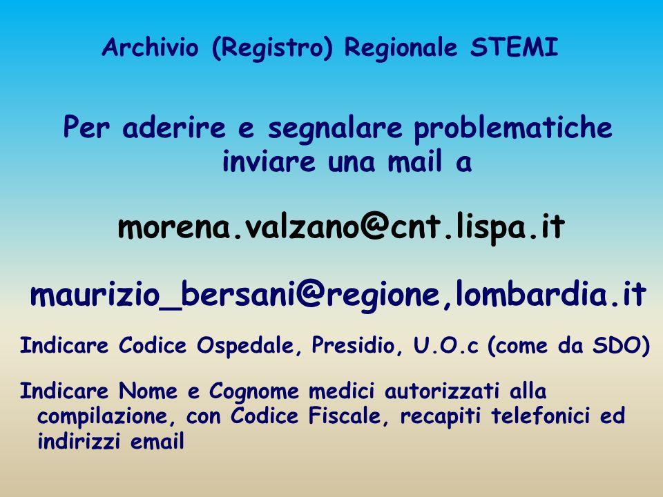Archivio (Registro) Regionale STEMI