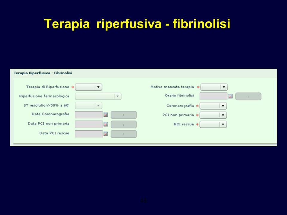 Terapia riperfusiva - fibrinolisi