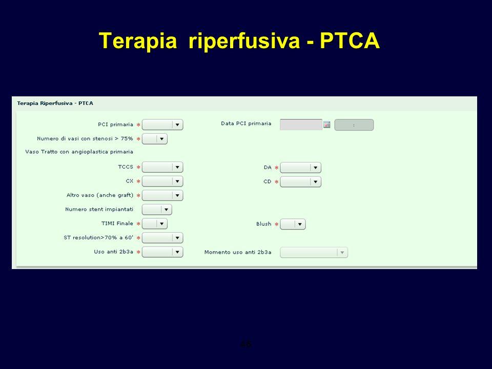 Terapia riperfusiva - PTCA