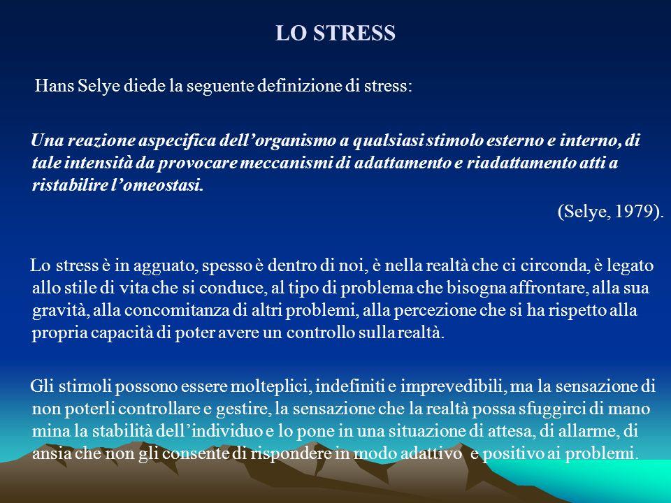 Hans Selye diede la seguente definizione di stress: