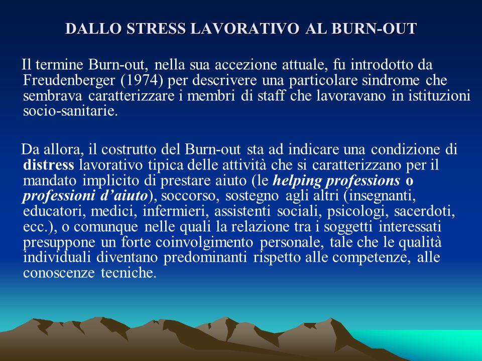 DALLO STRESS LAVORATIVO AL BURN-OUT