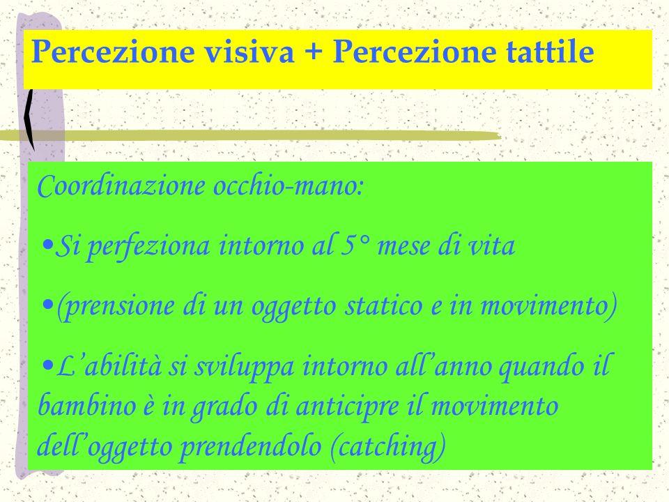Percezione visiva + Percezione tattile