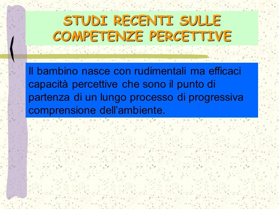STUDI RECENTI SULLE COMPETENZE PERCETTIVE