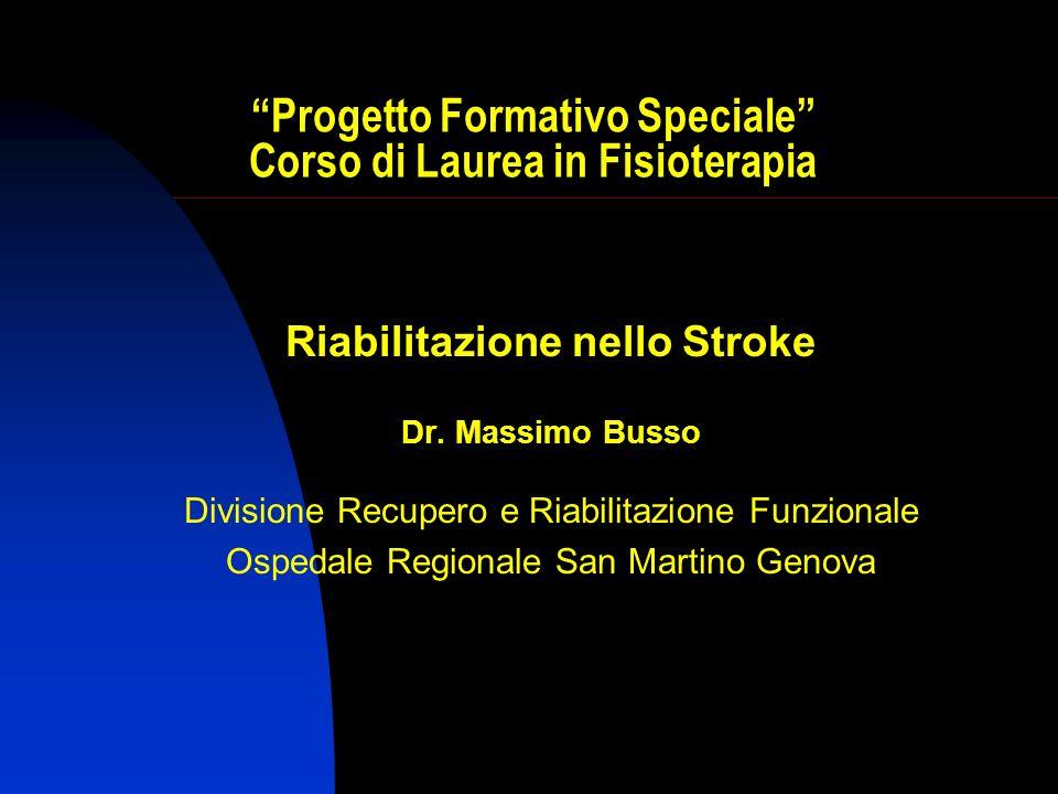 Progetto Formativo Speciale Corso di Laurea in Fisioterapia