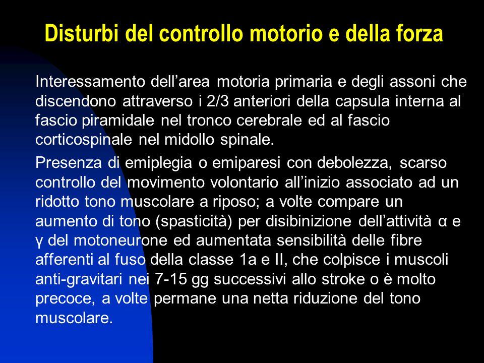 Disturbi del controllo motorio e della forza