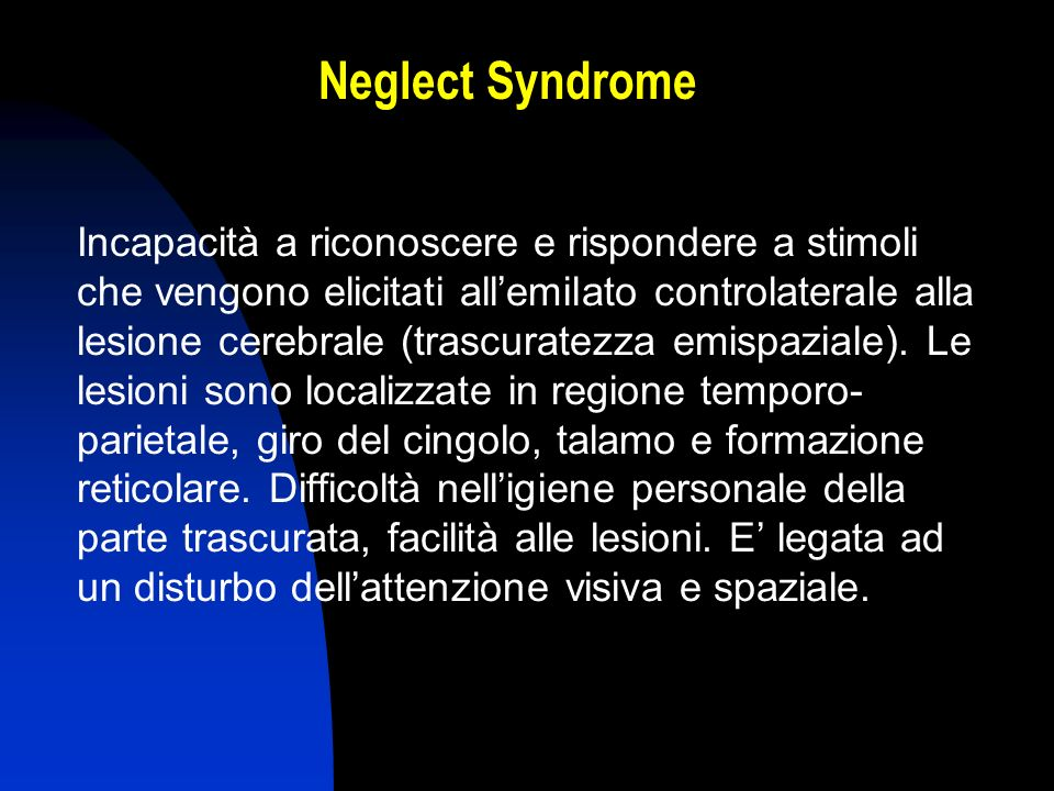 Neglect Syndrome