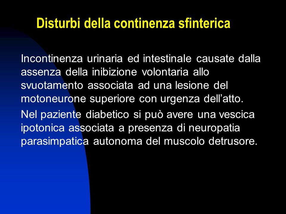 Disturbi della continenza sfinterica