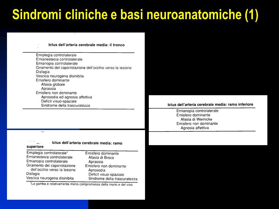 Sindromi cliniche e basi neuroanatomiche (1)