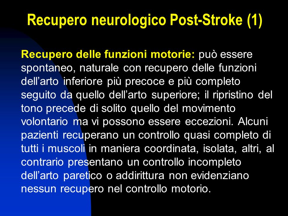 Recupero neurologico Post-Stroke (1)